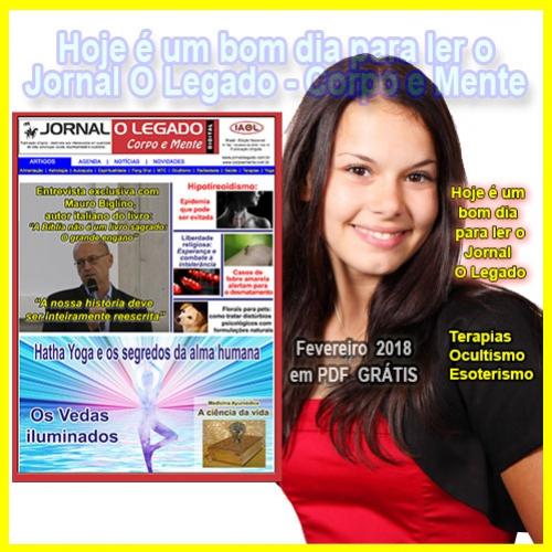 Leia a edição de Fevereiro de 2018 do Jornal O Legado