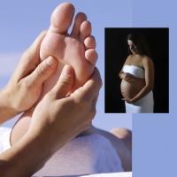 Reflexologia podal alivia dores nos pés na gestação