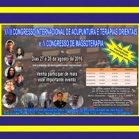 XVII Congresso Internacional de Acupuntura e Terapias Orientais & X Congresso de Massoterapia
