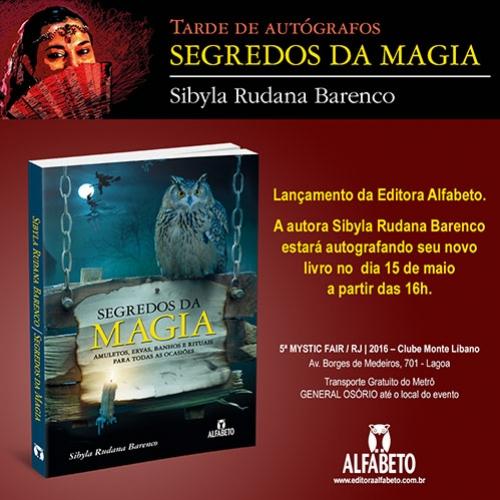 Sibyla Rudana Barenco em tarde de autógrafos